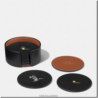 Coach X Peanuts leather coaster set - USD 180 - black multicolor