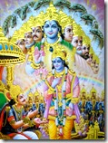 Krishna showing the universal form