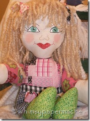 Handmade Rag Dolls Available For Sale front view