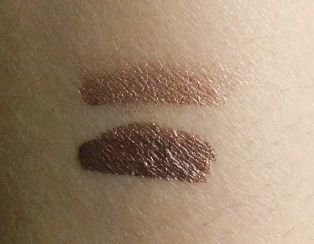 Rimmel ScandalEyes Shadow Paint Rich Russet and Golden Bronze Review Swatch