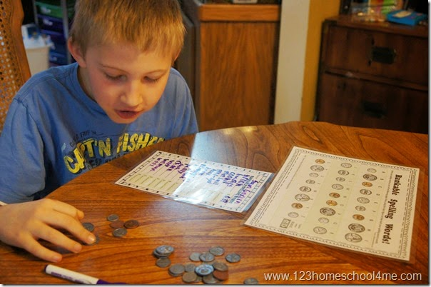 Spelling Money Worksheets for 2nd grade, 3rd grade, and 4th grade kids