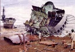 contaminación marítima desguaces navales