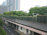 The above ground park at the Shibaura Water Reclamation Center