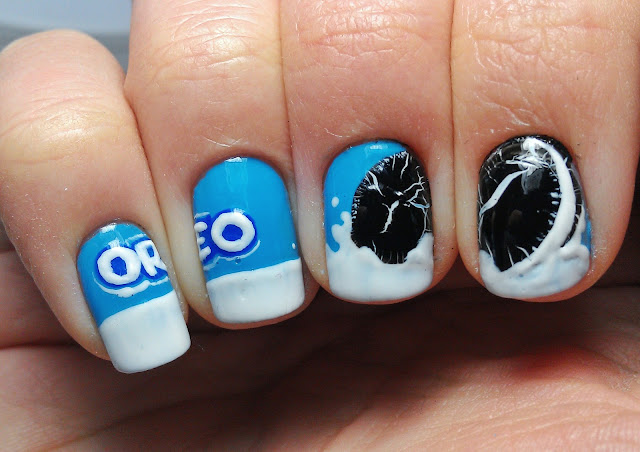 Oreos Are By Far My Favourite Kind Of Cookies I Ve Been Wanting To Try Oreo Nailart Forever Last Week Friend Beth Showed Me A Photo These