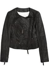 Karl Jacey snakeskin-effect leather jacket