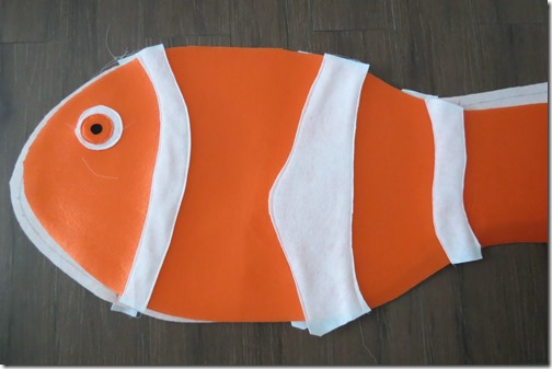 Como hacer un disfraz de pez, nemo, muy fácil
