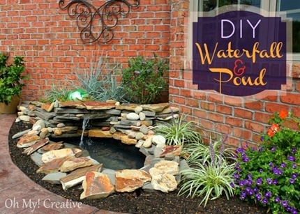 DIY Waterfall Pond - Oh My Creative