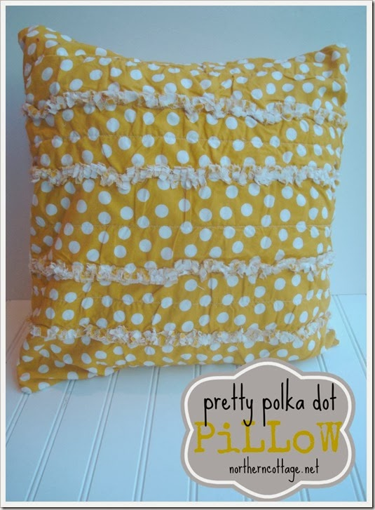 {Northern Cottage} yellow polka dot pillow cover
