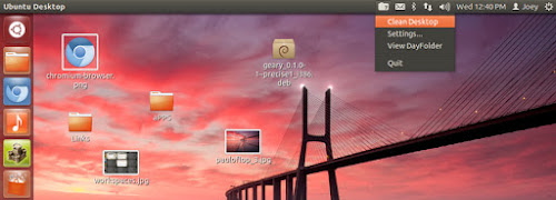 DayFolder su Ubuntu