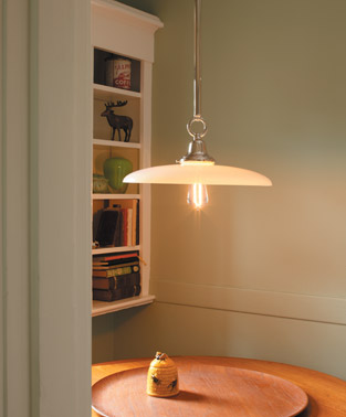 I love the simplicity of the Dana fixture.  The ring detail above the shade holder is just enough.