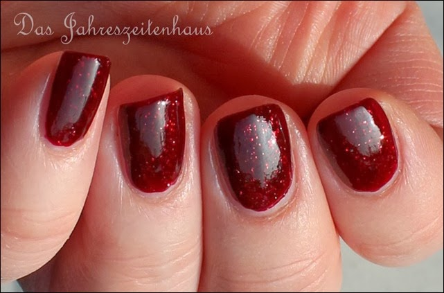 Bordeaux For You Nagellack Rot mit Glitzer 6