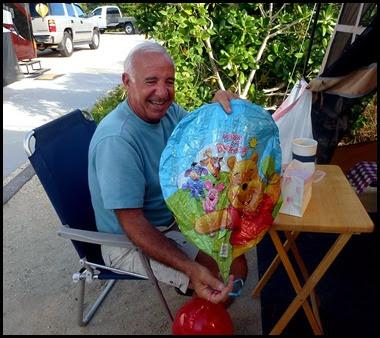 12b -Bill's Birthday Celebration Friends, Food, Balloons, Button, Homemade Ice Cream and Lima Bean Cake