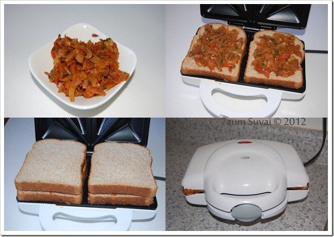 Masala bread sandwich Process