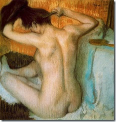 Woman Combing Her Hair (1886 - Edgar Degas)