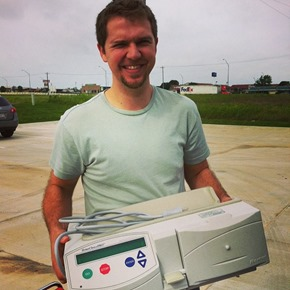 Chase with dialysis machine