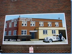 4162 Indiana - Ligonier, IN - mural on E 3rd St at corner of Cavin St (behind Police Station) - Indiana State Police 1947