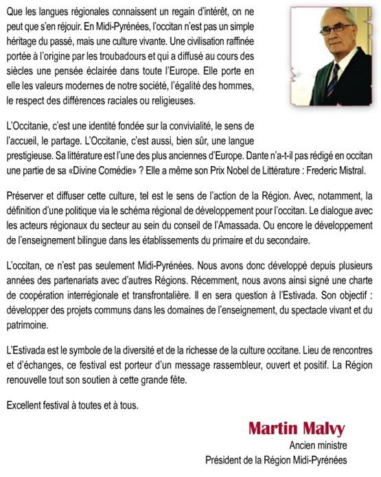 Martin Malvy L'Estivada 2012