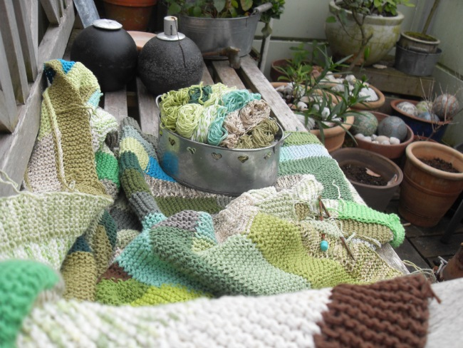 Tæppestrik og garnrester