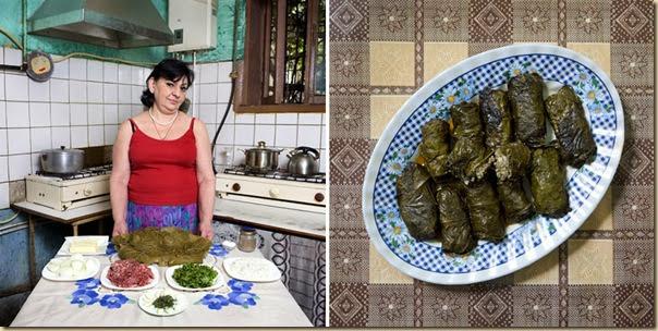Portraits de grand-mères et leurs plats cuisinés