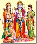 Sita, Rama, Lakshmana, Hanuman