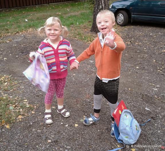 Liski dwa - radosne rodzeństwo