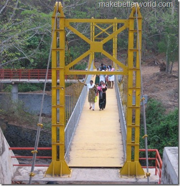 Vazhani Dam hanging bridge