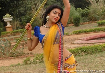 Shriya Saran Sizzlign New pics from movie Chandra Spicy Beauty Traditional Half Clothes