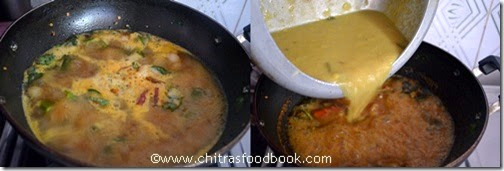 vendakkai sambar recipe step3