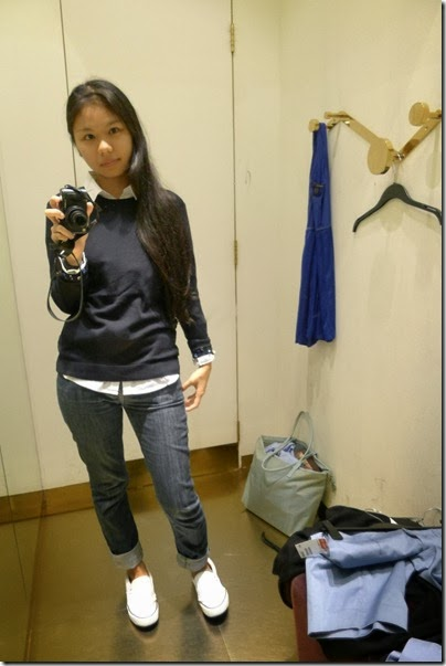 H&M navy blue knitwear pullover sweater