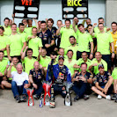 The team of Red Bull Racing celebration 1st and 3rd place
