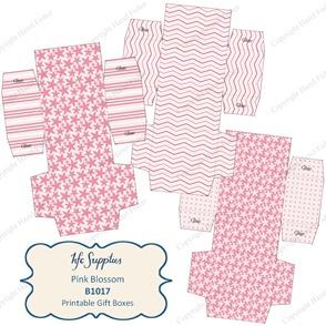 B1017 etsy 1 pink blossom printable gift boxes