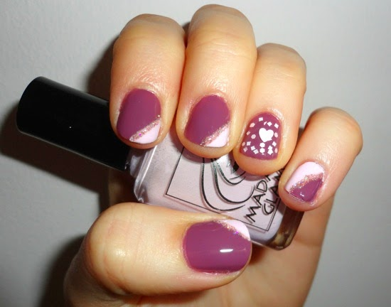 Valentine s Day Nails Zoya Odette Julep Nell Julep Yuki Madam Glam Flirty Mood