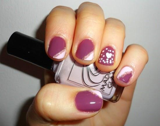 Valentine s Day Nails Zoya Odette Julep Nell Julep Yuki Madam Glam Flirty Mood
