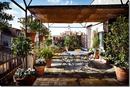 penthouse terrace in Rome