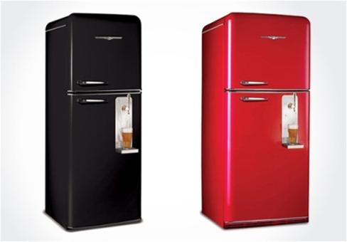 A empresa Northstar, conhecida pelos seus modelos retrô, criou geladeiras com máquinas de chope.