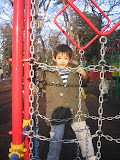 Kai in the playground at the Inokashira Park Zoo.