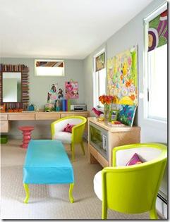 neon color decor bright bold vivid furniture 80s via theaestate