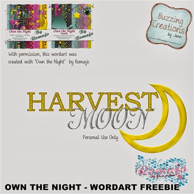 Romajo - Own the Night - Harvest Moon Wordart Preview