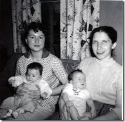 nita,timmy,marcia and me 1957
