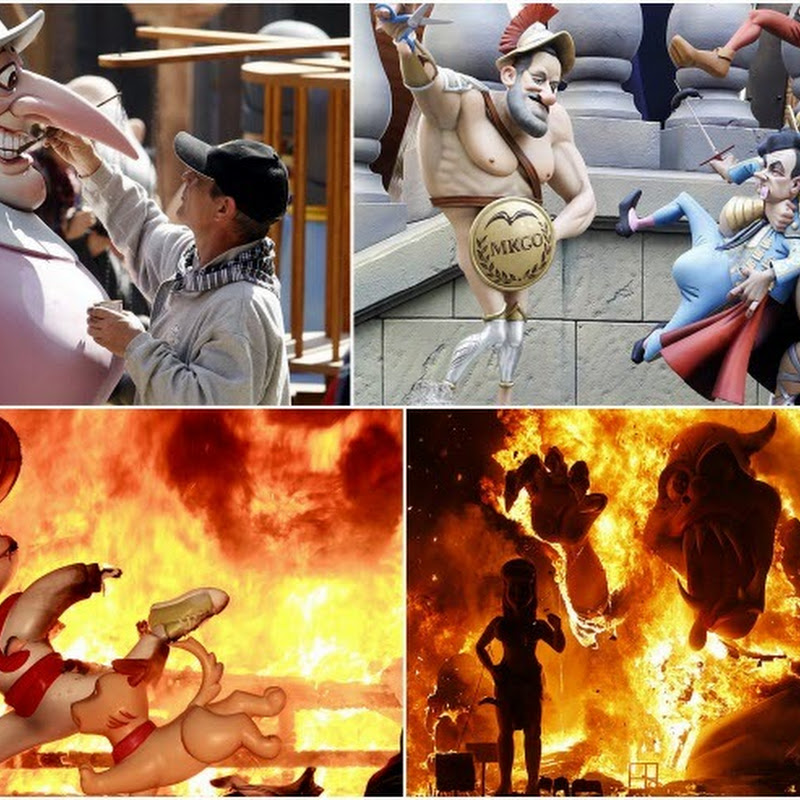 Las Fallas, the Festival of Fire Celebrated in Valencia