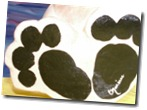 paper mache pup paws painted