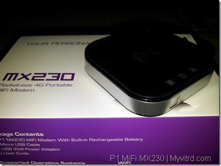P1 MiFi MX230 f
