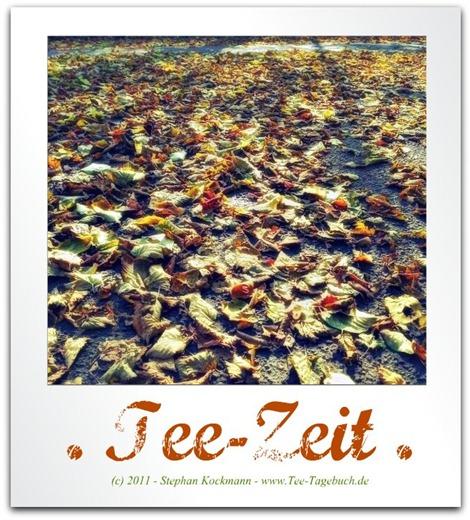 Tee-Zeit im goldenen Herbst