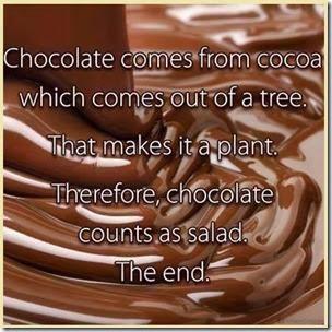 chocolate counts as salad