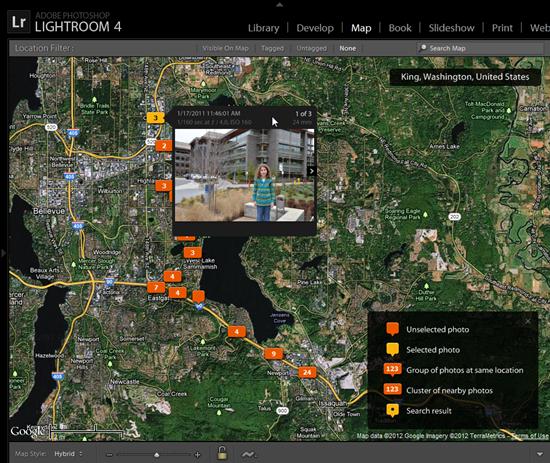 Adobe Lightroom 4 Map Module