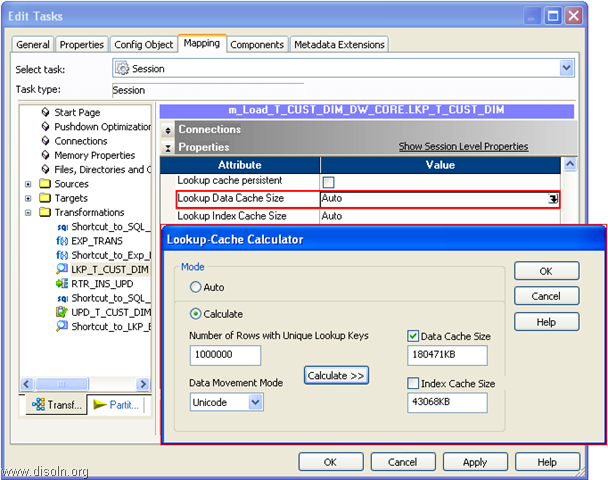 Cache Calculator for informatica LookUP transformation