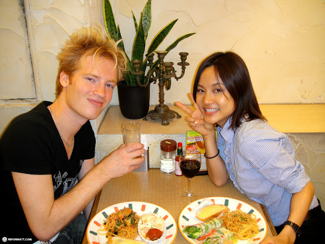 matt and yuka - going away dinner in Narita, Tokyo, Japan