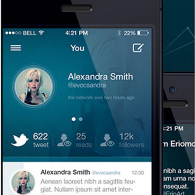 18 ejemplos muy creativos de interfaces gráficas para iOS 7