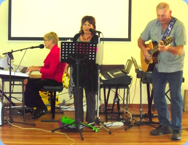 Carole Littlejohn, Janice, Kevin Johnston playing as a trio.