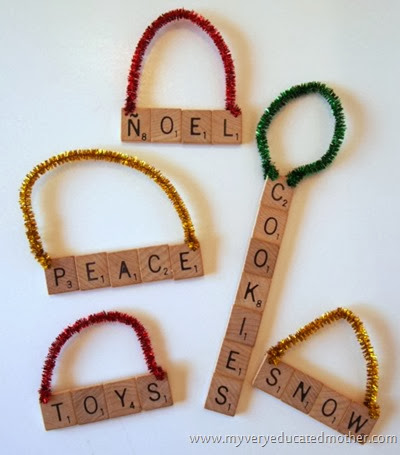 #NUO2013 Scrabble Tile Ornaments